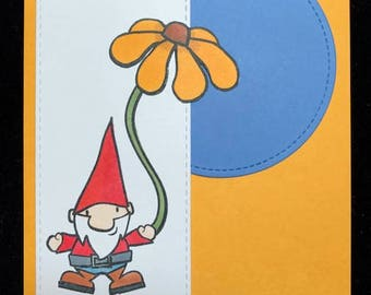 What's Up Gnomie?  Friendship Greeting Card