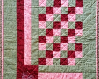 Cranberry Pathways Baby Quilt