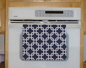 Navy Blue Kitchen Hand Towel - Gotcha Navy Blue Decorative Kitchen Towel