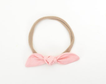 Pink Baby Headband, Bow Headband, Bow Clip, Girls Hair Accessories, Toddler Headband, Pastel Baby Bow