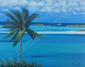 Rolletown harbor, (14x18)original acrylic on canvas panel.