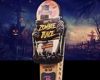 Zombie Juice Beer Tap Handle-Halloween Tap Handle