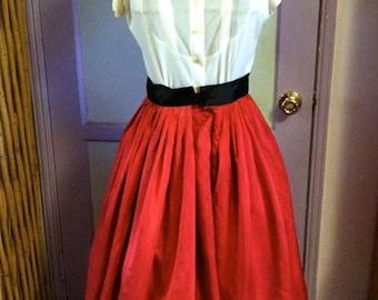1950s Red circle skirt