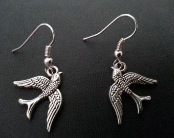Silver Swallow Earrings #5