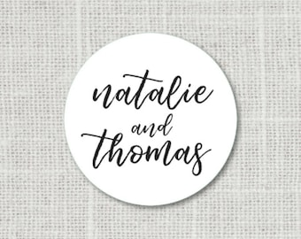 Calligraphy Save the Date Stickers Name Stickers Save the Date Seals Personalized Stickers Wedding Stickers for Favors