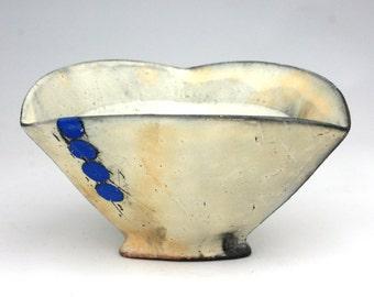 Tri Bowl with Blue Circles