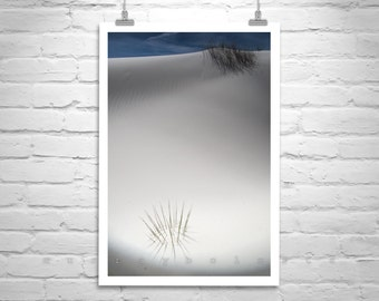 New Mexico Art, Desert Sand Dunes Photography, White Sands New Mexico Art, Minimalist Art, Southwest Landscape, Surreal Art, Desert Decor