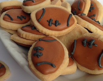 Mini FOOTBALL SUGAR COOKIES, Itty Bitty Sugar Cookies, 1/2 Pound