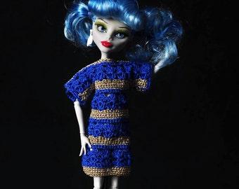 Monster High and EAH doll clothes - summer crochet dress.