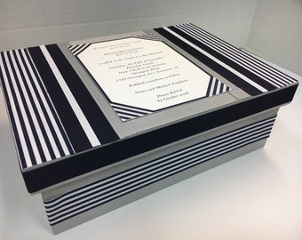 Bar/ Bat Mitzvah Keepsake Box with your Invitation