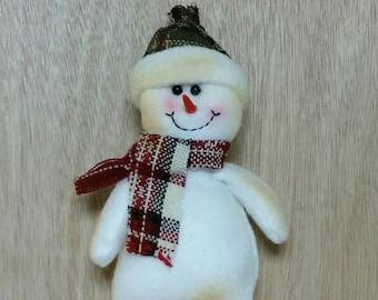 Plaid Fabric Snowman
