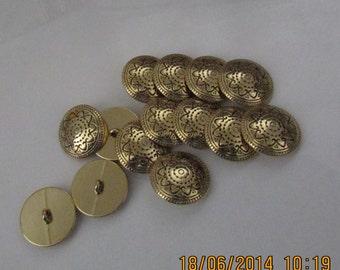 sun or flower buttons set of 8