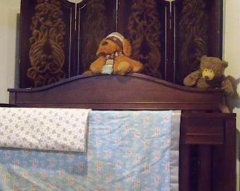 GiGi Swaddle Receiving Reversible Flannel Blanket