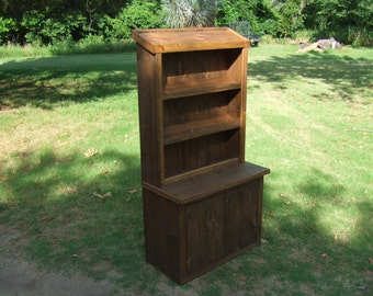 Trade Show Rustic custom hutch - farmhouse furniture - portable for display booth