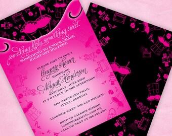 Lingerie Shower Invitation Flirty & Sweet