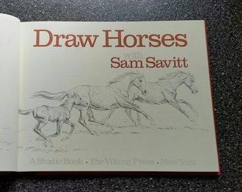 Horse Drawing Book, Draw Horses with Sam Savitt, How to Draw Book