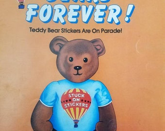 Bears Forever Stuck on Stickers Kit 5 Collectors' Series Scholastic HTF Sticker Book 1980s Vintage 1984