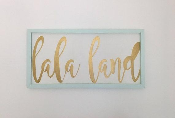 Lala Land Handmade Wood Sign