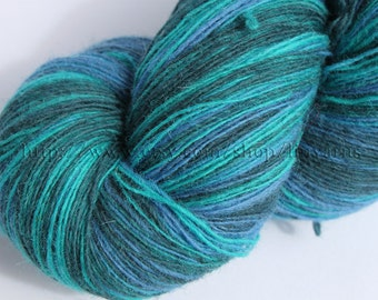 KAUNI Estonian Artistic Wool Yarn Aqua 8/1  Laceweight Art Wool Yarn for Knitting, Crochet