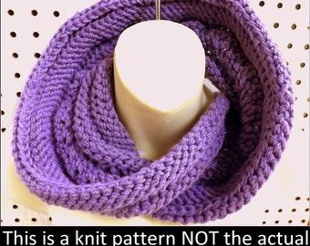 Knit Infinity Scarf Pattern,  Knit Pattern,  Knit Cowl Pattern,  Knit Scarf Pattern,  Coil  Oversized Knitting Pattern