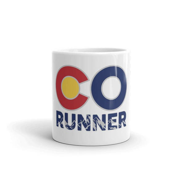 Colorado Runner Mug - Made in the USA - Run Colorado - 11 oz or 15 oz - Coffee Mug's for Runners