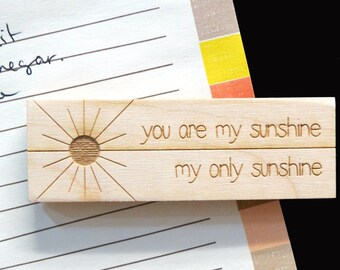 Wood Magnet - you are my sunshine Magnet - Laser Engraved Wood Magnet