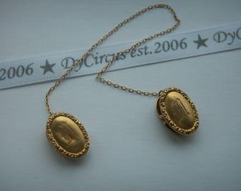 10k Gold collar clips