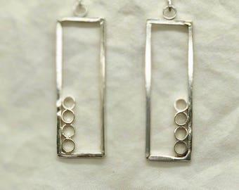 Geometry in Sterling Silver Earrings