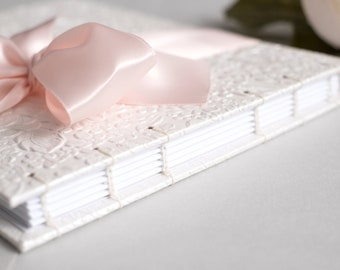 Wedding Guest Book, 7x9, Party Guest Book, Baby Guest Book, White Guest Book, Unique Wedding Guestbook, Custom Guest Book, Made to Order