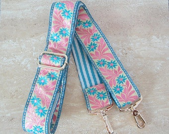 150cm Blue Pink Fabric Strap for Bag