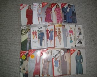 lot of 18 various patterns shirts pants dresses suits etc. sizes 14 -16 -18