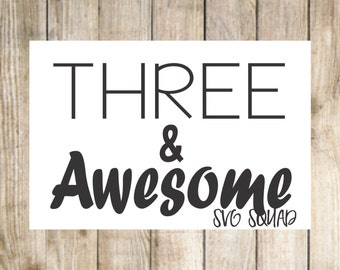 Three & Awesome - svg