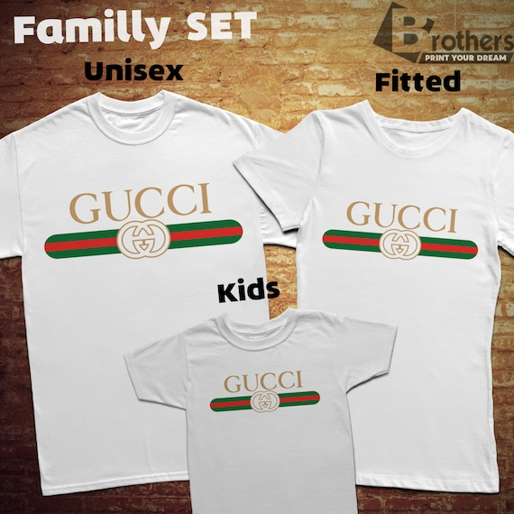 Gucci Family, T Shirt With Individual Design, 100 Percents Cotton, For Man/Woman/Kids by Etsy