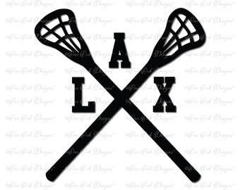 Lacrosse Sticks Crossed SVG File  svg / dxf / pdf / jpg / png for Cameo svg File for Cricut and other electronic cutters