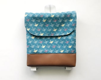 Paper Cranes Tiny Pack - Small Backpack - Toddler Backpack - Tiny Backpack - Toddler Bag - Backpack - Cranes - Japanese