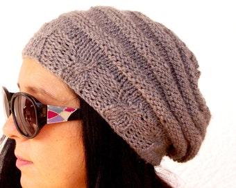 "Women's Crochet Hat: ""GREY HAT"" Girl Crochet Hat , women beanie, women hat beanie, Womens Knit Hats , skull caps beanies A135"