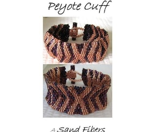 Peyote Pattern - Hugs and Kisses Cuff / Bracelet - A Sand Fibers For Personal Use Only PDF Pattern - 3 for 2 Savings Program