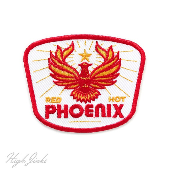 Red Hot Phoenix : Embroidered Patch