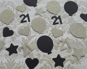 21st Twenty First Twenty One Birthday Table Confetti Birthday Party Table Decoration