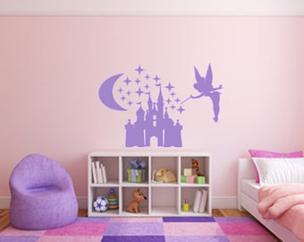 Disney Wall Decal / Tinkerbell Wall Decal / Tinkerbell Decal / Nursery Decor / Nursery Decal / Girl's Room Decal / Fairy Decal / Baby Decor