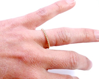 Simply Beaded, 14k Gold Filled Beaded Stacking Ring