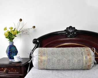 Silk Bolster Pillow Covers Sofa Home Decor