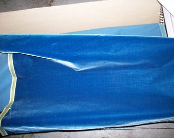 Antique Silk Velvet from France Victorian Old Store Stock Yardage High Quality Napoleon blue