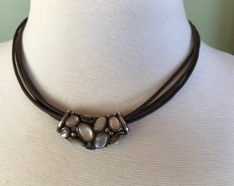 Sterling shell slide necklace - 756
