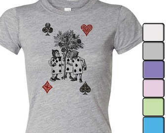 Alice in Wonderland T-shirt, Alice in Wonderland Shirt - Women's Shirt Tee, Alice in Wonderland by Lewis Carroll Shirt, The Playing Cards
