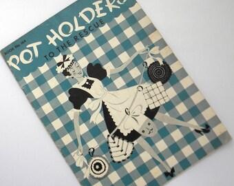 1941 Pot Holders Crochet Patterns Vintage Spool Cotton No. 164 Hot Pads