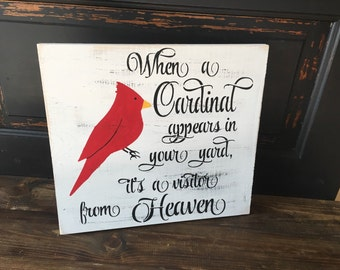 When a cardinal appears it's a visitor from heaven, inspirational sign