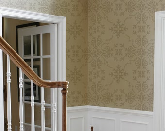 Victorian Damask Stencil - Allover Stencil for Painting