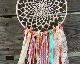 "Dream Catcher, Custom Made dreamcatcher for Boho Baby Shower or other Boho Chic Party.  12"" handmade Party Decoration"