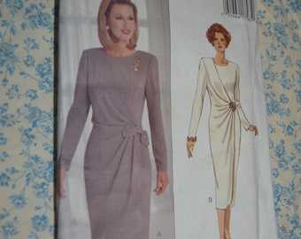 Butterick 3067 Misses Dress Sewing Pattern - UNCUT - Size 18 20 22 Loose Fitting SlightlyTapered Dress